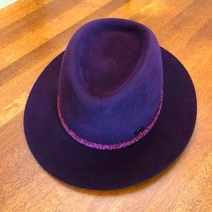 MAISON MICHEL | Purple & pink wool fall winter designer fedora hat